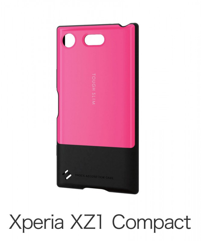 Xperia XZ1 Compact用TOUGH SLIMケース ピンク PD-SO02KTSPN